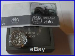 $10 Dollar 2015 Norse Gods Odin 2 oz Antique finish Cook Islands Silver Coin