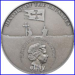 10th. Crusade- Peter I The Last Crusader Silver Coin 5$ Cook Islands 2017