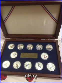 12pc 1996-98 Cook Islands US national park foundation wildlife Silver Coin Set