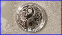 14-17 Cook Islands Predator/Prey Silver 4-Coin Set withDisplay Box/Matching COA's