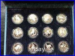1991 Cooks Island Endangered Wildlife Animal Series Proof Coin Silver Set