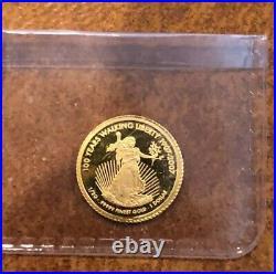 1994 1 Silver Eagle Coin & 1/2 Gram Gold Coin U. S Walking-Liberty Rare Mint