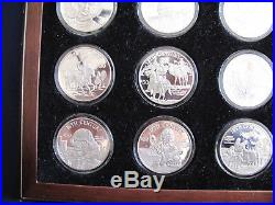 1997 Cook Islands FM The Millennia Proof Silver $50 Dollar Set of 20 Coins E5606