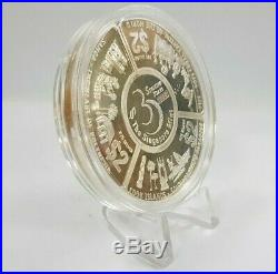 1998 Cook Islands, Fiji, Samoa Tripartite Fan-Shaped Silver Proof Coin Set