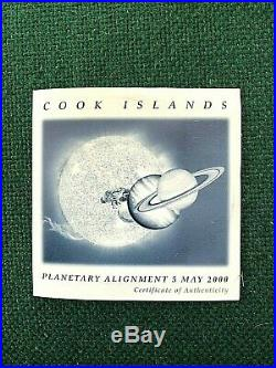 2000 Cook Islands Planetary Alignment 10oz Silver/Colored Coin