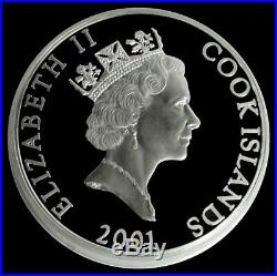 2001 Silver Cook Islands 600 Minted 2 Kilo 2000 Grams $500 Proof Moby Dick Coin