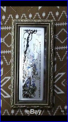 2004 2pc cook islands 1st issue chinese ink painting qi baishi silver coin set