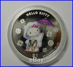 2004 Cook Islands Hello Kitty $1 Silver Proof Coin