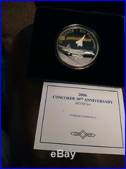 2006 Concorde Silver 5oz Coin Cook Islands