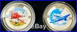 2006 Cook Islands 1930's Racers Colorized (4 X 1oz) Silver Coin Set Box & COA