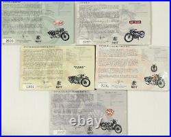 2007 Cook Islands 5 2 $ set Great Motorcycles of the 30's Silver Coins 5 oz