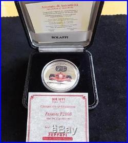 2008 Silver Proof Cook Islands Colour $5 Coin Box + Coa's Vettura Ferrari Fi