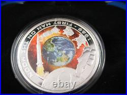 2009 1$ Cook Islands 1oz. 999 Silver Proof Coin First Man on The Moon 1969