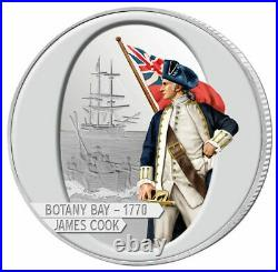2009 COOK ISLANDS $1 Captain James Cook 4 oz. Silver Set Mtg. 1,779 (4 coins)