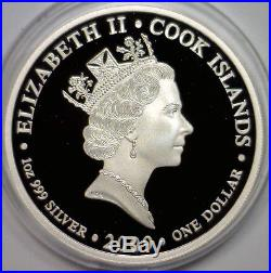 2009 Cook Islands 4 1 Oz Proof Colorized Silver 4-coin Set, Wood Case, CoA Ltd