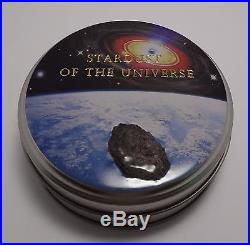 2010 Cook Islands Silver $5 Coin Hah 280 With Meteorite Insert Challenge Of Time