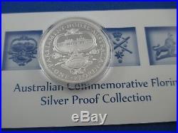 2011 $1 COOK ISLANDS 1oz SILVER PROOF COIN AUSTRALIAN COMMEMORATIVE FLORIN