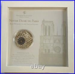 2011 Cook Islands $10 Notre Dame De Paris (50g) Silver (PL) Coin Window Glass