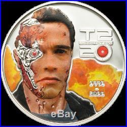 2011 Cook Islands Silver $5 Terminator 2 PF69-70 UC NGC 3-Coin Set POP=3