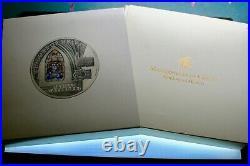 2011 Windows of Heaven Seville Cathedral 2 oz. 999 silver Rare Box & COA