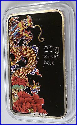 2012 Cook Islands 31 Dollars Year of the Dragon 320g Silver Coins Set BOX COA