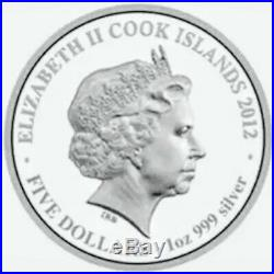 2012 Cook Islands Prosperity brought by the Dragon Blue 1oz. 999 Silver Coin
