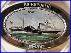 2013 $5 Cook Islands SS Republic Silver Proof Coin with Coal Insert