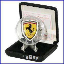 2013 Cook Islands Ferrari Shield Proof Silver Coin