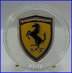 2013 Cook Islands Ferrari Shield Silver Coin