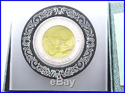 2013 Cook Islands Lunar Snake Mother of Pearl $50 Silver Proof 5oz Coin Box Coa