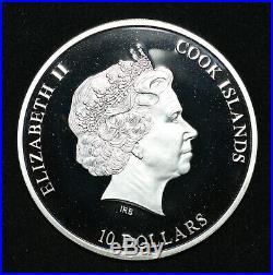 2013 Cook Islands Nano Space 1.5 Oz. 999 Silver Proof Coin nano printed chip