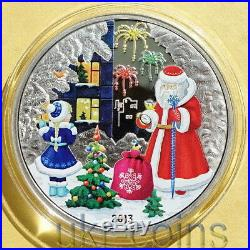 2013 Cook Islands Russia Christmas 1 Oz Silver Color Coin New Year Santa Claus