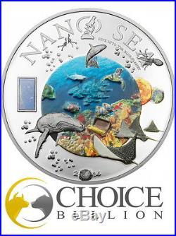 2014 $10 Cook Islands Nano Sea 50g Proof Silver Coin