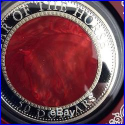 2014 5oz. Silver coin with Mother of Pearl. $50 Cook Islands, Total Mintage 888