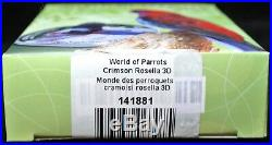 2014 COOK ISLANDS $5.925 SILVER 3D COIN World of Parrots Crimson Rosella