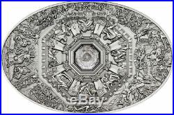 2014 Cook Islands Ceilings of Heaven Last Judgement silver coin with nano chip