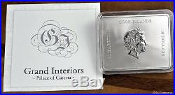 2014 Cook Islands Palace of Caserta 2.5 oz silver coin with marble inserts