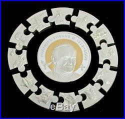 2014 Silver Proof Kilo 1000 Grams Puzzle Pope Saint John Paul Coin Boxed Set