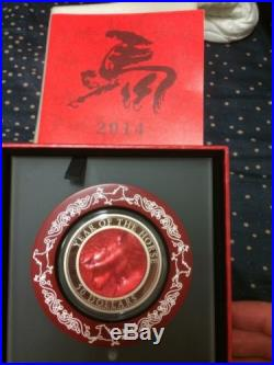 2014 cook islands mother of pearl lunar horse 5oz silver coin