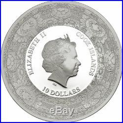 2015 $10 Cook Islands Van Gogh DELFT Porcelain 50gram 999 Silver Proof Coin