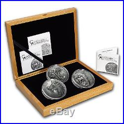 2015-2017 Cook Islands 3-Coin Silver North American Predators Set SKU #105013