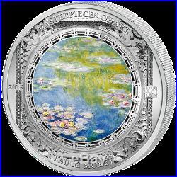 2015 $20 Cook Islands 3oz 999 Silver Coin Claude Monet Water Lillies