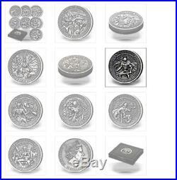 2015 9pc cook islands norse gods 2oz silver coin set