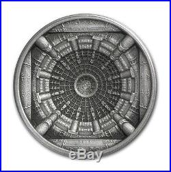 2015 Cook Islands 100 g Silver Temple of Heaven 4-Layer Coin with Original Box