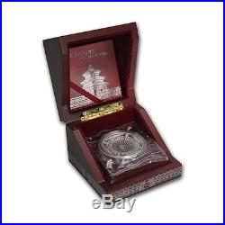 2015 Cook Islands 100g Silver Temple of Heaven 4-Layer Coin with Original Box