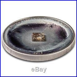 2015 Cook Islands 1 oz Silver Chondrite Impact Meteorite NWA 4037 SKU #93041