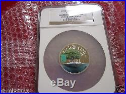 2015 Cook Islands Is Nano Life. 999 1.5 oz Silver Coin with Nano Chip $10 NGC PF70