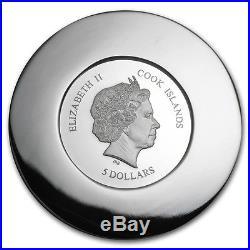 2015 Cook Islands Silver $5 Murrine Millefiori Glass Art PF69 UC NGC Coin