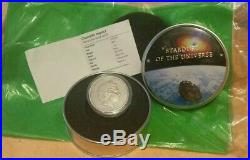 2015 Cook Islands Stardust of The Universe $5 1oz Silver Coin Chondrite Impact