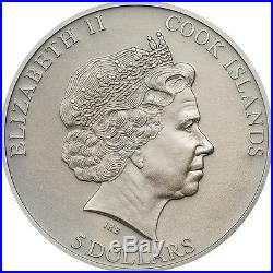 2015 HISTORY OF THE SAMURAI Silver Coin 5$ Cook Islands Box/COA
